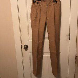 Ann Taylor Devin Tan Trouser Pants Size 0 NWT
